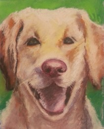 "Teacher's Pet, pastel, 11""x14"" ©Charlotte B. DeMolay"