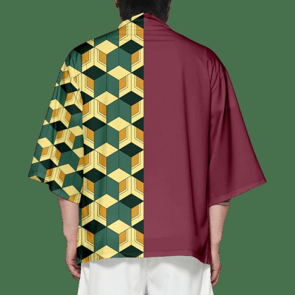 Giyu Demon Slayer Kimono Pattern Back