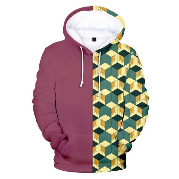 giyu pattern hoodie