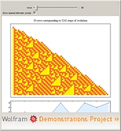 The Wolfram 2,3 Turing Machine Left-Compressed Evolution