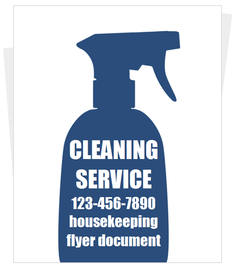 House Cleaning Housekeeping Brochure Template Design  Ifmore