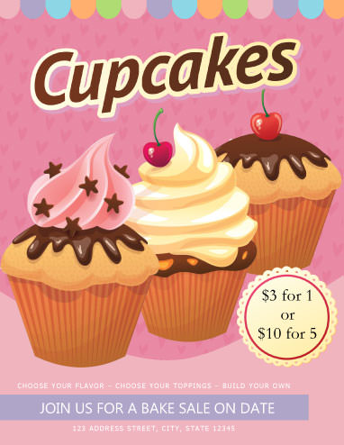 10 Free CupCake Flyers Too Cute To Ignore Demplates