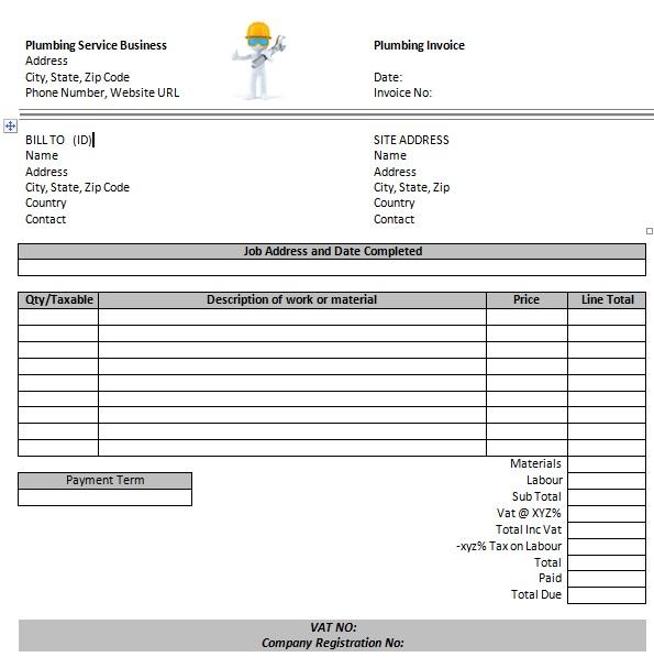14 Free Plumbing Invoice Templates Demplates