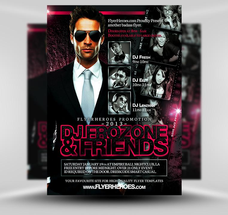 32 Spectacular Free Dj Flyer Templates  Psd, Doc  Demplates