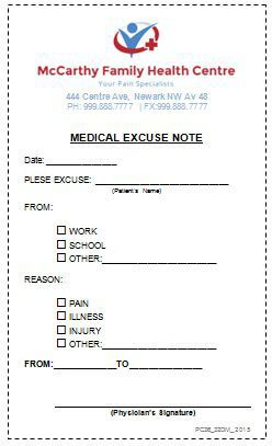 25 Realistic Looking Doctors Note For Work You Can Use