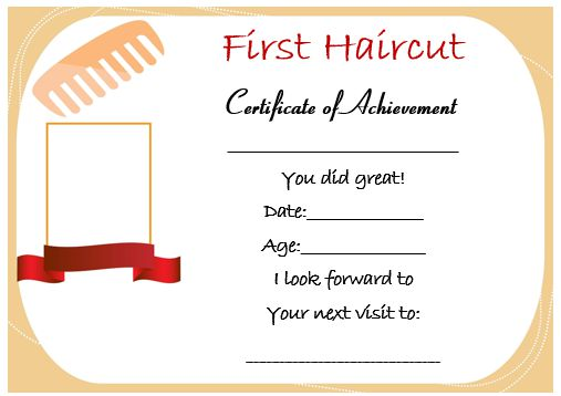 1st haircut certificate the best haircut of 2018 haircut certificate template 5 doents yelopaper Image collections