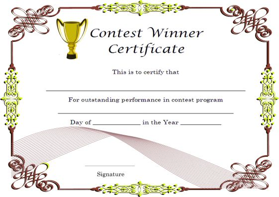 Winners Certificate Template