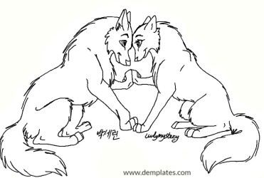 Wolf Love Drawings 30+ Galvanizing Images To Help You Draw Demplates