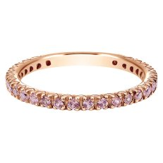 Rose gold and pink sapphire stack ring