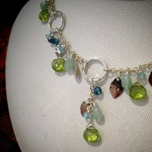 Detail of Holly Yashi Torrid Green Fairy Garden Necklace $150