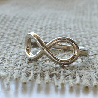 Sterling infinity ring $59.95