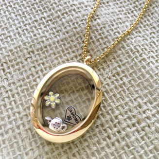 Gold-tone Love Locket with assorted charms - charms start at $15 and lockets at $80
