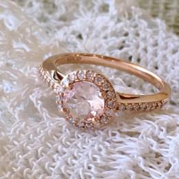 Rose gold diamond and morganite ring $950