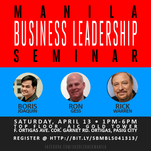 Manila Business Leadership Seminar 04/13