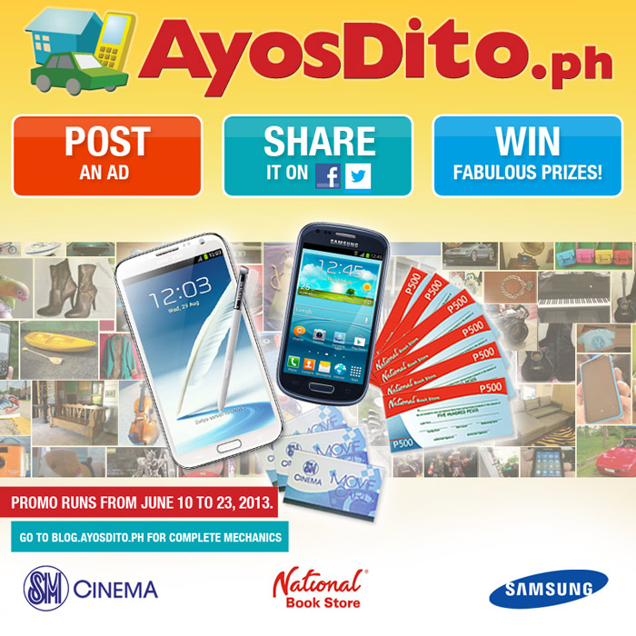 AyosDito.ph Wants You to POST. SHARE. WIN!