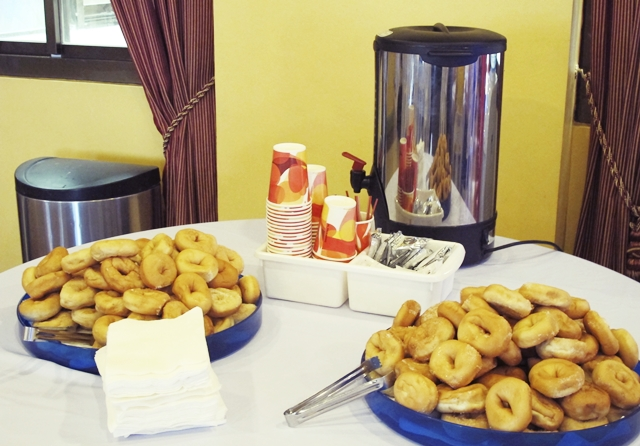Coffee and donuts are a staple in all Saddleback Manila events.