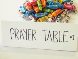 We've included a prayer table this time :)