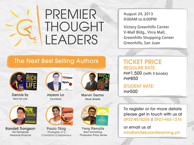 Giveaway: 3 Tickets to Premier Thought Leaders Conference