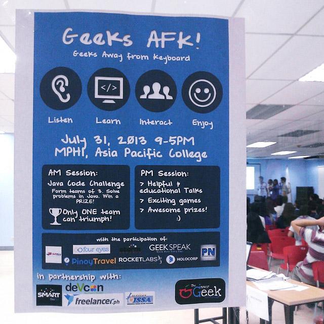 @iGeekMo at APC: Geeks AFK!