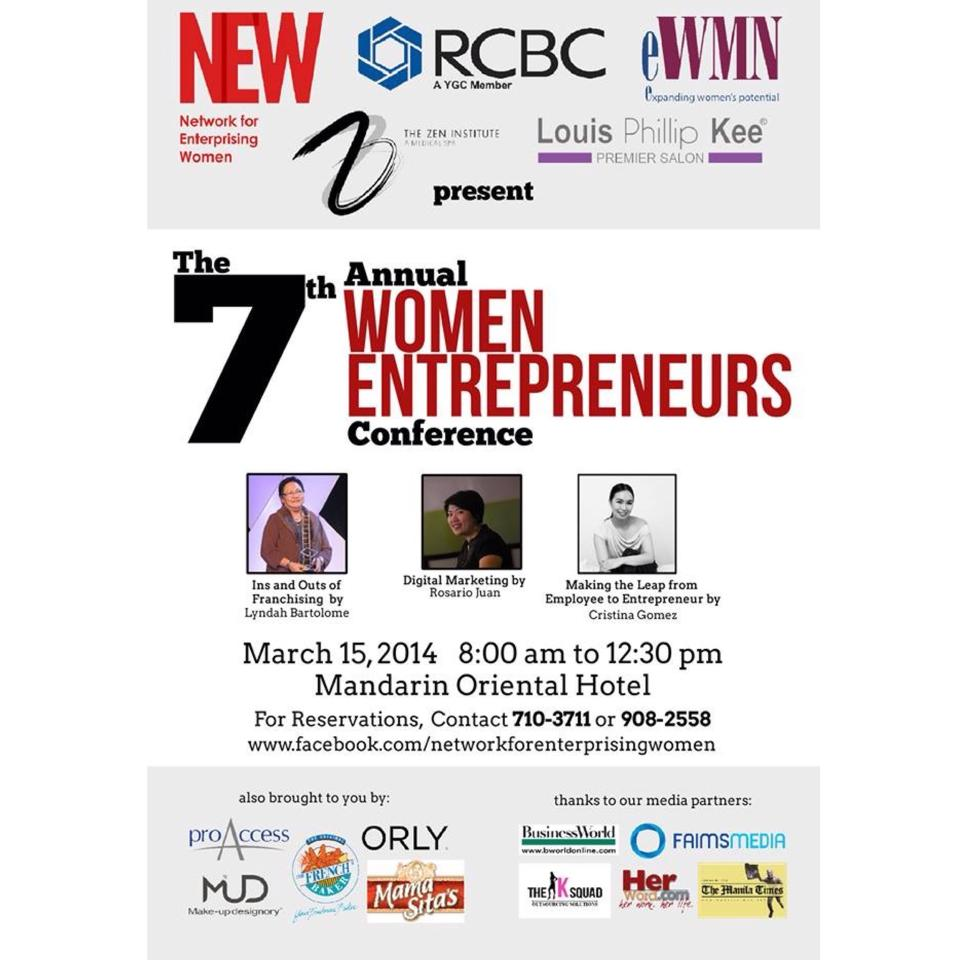 The 7th Annual Women Entrepreneurs Conference