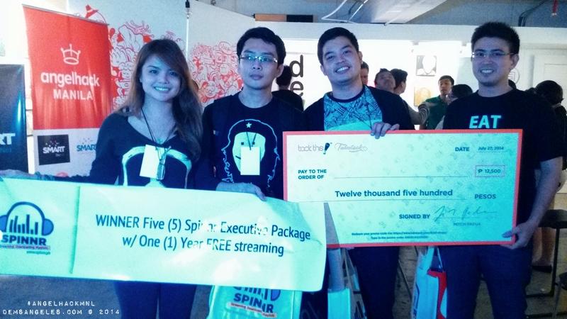 "AngelHack Manila 2014 Spring Grand Winner: Team ""Quotable"""