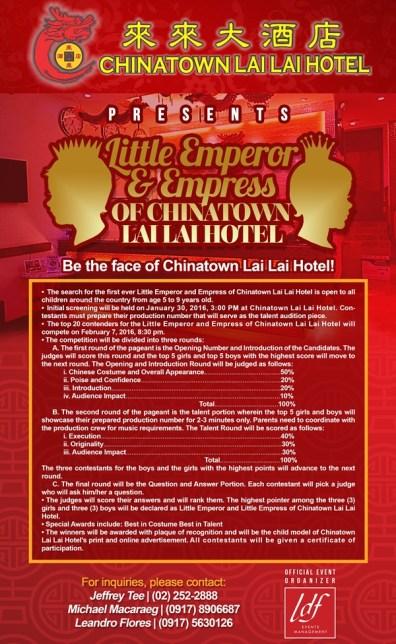 ChinatownLaiLaiHotel-LittleEmperorEmpress2016