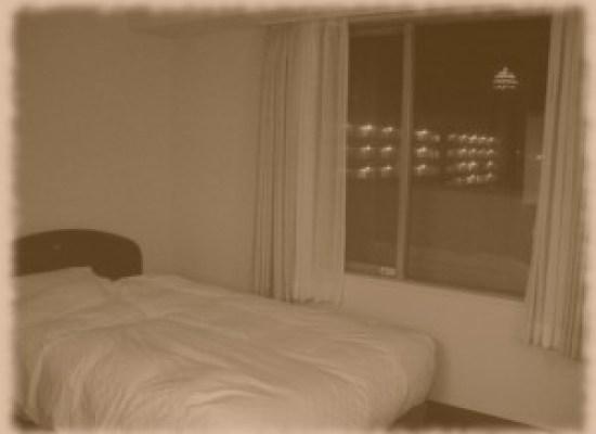 窓から博多ポートタワーが見えます.