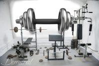 A maximum hard workout - Gym wallpaper mural - Photo ...