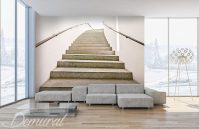 Decorative mezzanining - Staircase wallpaper mural ...