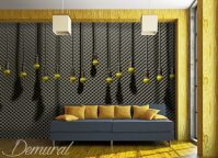 Hanging microphones - Teenager's room wallpaper, mural ...