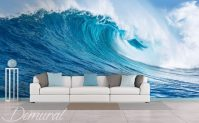 Sea wave - Living room wallpaper mural - Photo wallpapers ...