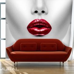 Canvas Prints For Living Room Need To Decorate My Red Lips - Wallpaper Mural Photo Wallpapers ...