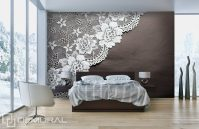 Lace dream - Bedroom wallpaper mural - Photo wallpapers ...