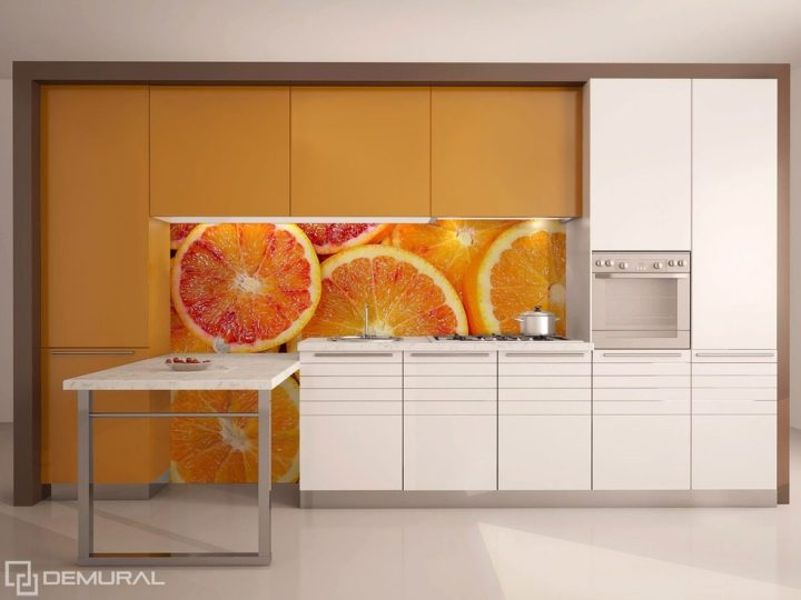 Orange kitchen wallpaper bahangit org