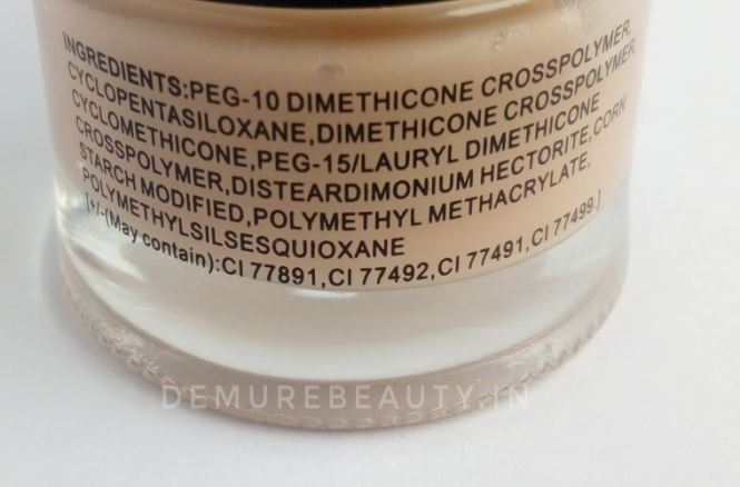 pac zero pore separation cream ingredients