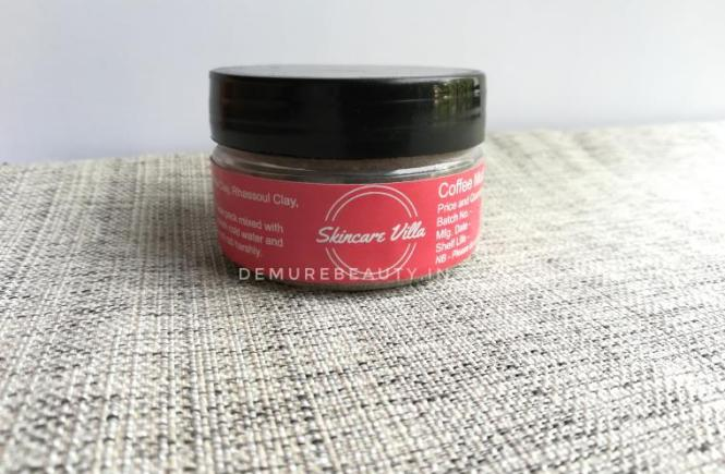 skincare villa coffee mud mask