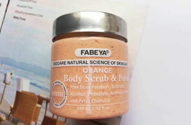 fabeya orange body scrub and polish review