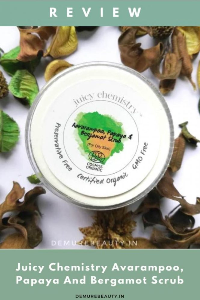 juicy chemistry avarampoo papaya bergamot scrub