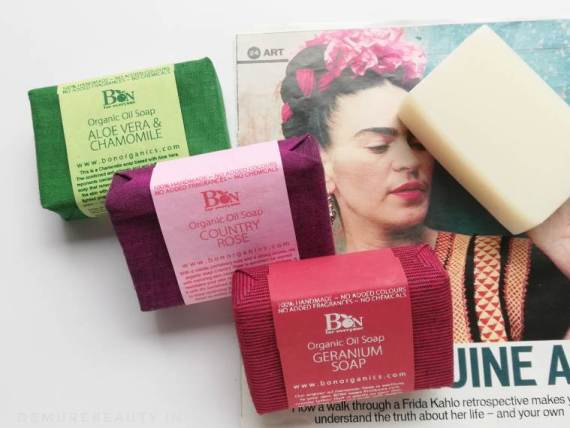 bon organic handmade cold-pressed soaps