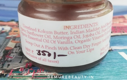 Lip balm ingredients