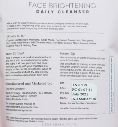 the tribe concepts cleanser review
