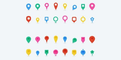 Free Map Location Pins Vector Icons 4