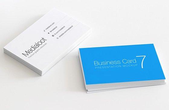 real life business card mockup Free Real Life Business Card Mockup