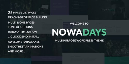 NowaDays - Multipurpose, One or Multipage WordPress Theme 3