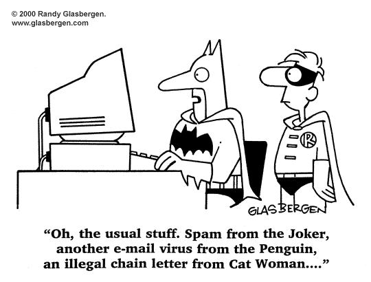 Tech Humor: Even Superheroes are not safe from viruses and spams