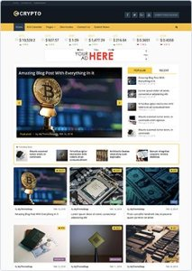 CRYPTO – Bitcoin and Cryptocurrency WordPress Theme 1