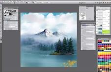 br mystic mountain - Corel Painter 2019 -Digital Art and Painting Software