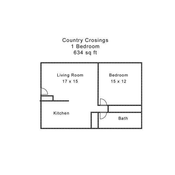 Country Crossings 1 Bedroom White