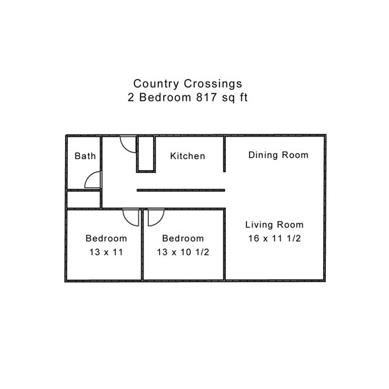 Country Crossings 2 Bedroom Brick