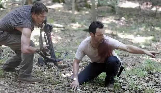 Zombies jagen in The Walking Dead